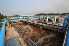 Parte della scena dell'impianto di depurazione Immagini Stock