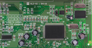Parte della scheda del circuito stampato del PWB immagini stock libere da diritti