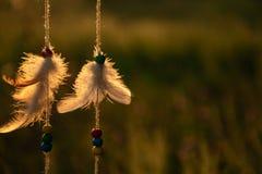 Parte della siluetta dell'amuleto il custode dei desideri e dei sogni immagini stock