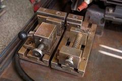 Parte della tagliatrice in laboratorio Fotografie Stock