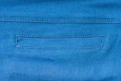Parte della tasca delle blue jeans Fotografie Stock