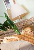 Parte della tonalità barrocco del sofà e di lampada di stile Immagini Stock Libere da Diritti
