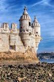 Parte della torre di Belem Fotografie Stock Libere da Diritti