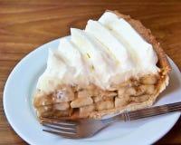 Parte della torta della banana Fotografie Stock