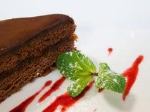 Parte della torta di cioccolato Fotografie Stock