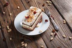 Parte della torta di cioccolato Immagini Stock Libere da Diritti