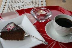 Parte della torta di cioccolato Fotografia Stock