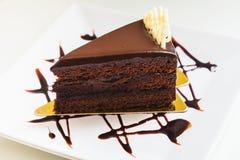 Parte della torta di cioccolato Immagine Stock
