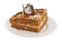 Parte della torta su una zolla Fotografia Stock