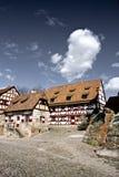 Parte delle costruzioni di un castello tedesco Fotografia Stock Libera da Diritti