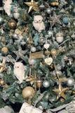 Parte delle decorazioni sull'albero di Natale Fotografia Stock