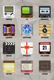 Parte 4 delle icone v2.0 del dispositivo mobile Fotografie Stock Libere da Diritti