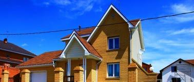 Parte delle tre case immagine stock