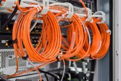 Parte dello scaffale del server Fotografia Stock