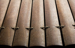 Parte dello strumento musicale tailandese (xilofono) Fotografie Stock