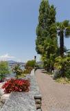 Parte dello svizzero di Montreux della passeggiata Immagini Stock