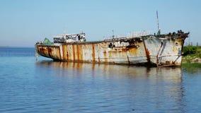 Parte destruída velha da zona do porto de Montevideo vídeos de arquivo