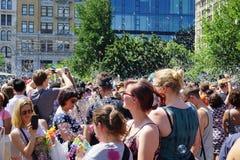 Parte 4 11 di battaglia NYC 2015 della bolla Immagini Stock Libere da Diritti