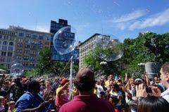 Parte 3 32 di battaglia NYC 2015 della bolla Fotografia Stock