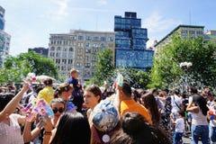 Parte 2 63 di battaglia NYC 2015 della bolla Fotografia Stock