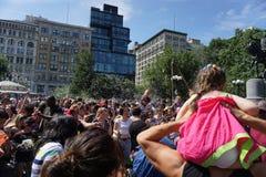 Parte 2 60 di battaglia NYC 2015 della bolla Fotografia Stock Libera da Diritti