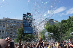 Parte 2 59 di battaglia NYC 2015 della bolla Immagine Stock Libera da Diritti