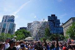 Parte 2 47 di battaglia NYC 2015 della bolla Immagine Stock