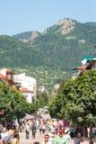 Parte di camminata della città di Smolyan in Bulgaria Fotografia Stock