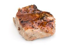 Parte di carne arrostita col barbecue Immagini Stock Libere da Diritti
