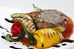 Parte di carne con paprica Immagine Stock Libera da Diritti