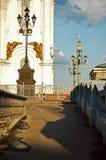 Parte di Cristo la vista all'aperto della cattedrale del salvatore, Mosca, Russia fotografie stock