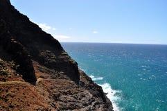 Parte di Dangerouns della traccia di Kalalau, Kauai, Hawai Immagini Stock