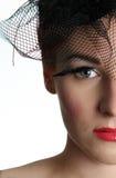 Parte di destra di un fronte della giovane donna Fotografie Stock Libere da Diritti