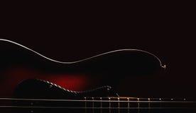 Parte di Jazz Bass Guitar Fotografia Stock Libera da Diritti