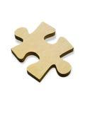 Parte di legno del puzzle Fotografie Stock