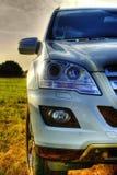 Parte di Mercedes ml, nuovo SUV, fari Fotografie Stock Libere da Diritti