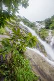 Parte di Pitugro WaterfallPetro Lo Unione Sovietica o della cascata del cuore, il più alta cascata in Tailandia, situata nel sant Fotografie Stock Libere da Diritti