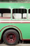 Parte di retro bus verde Immagini Stock Libere da Diritti