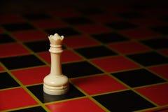 Parte di scacchi di plastica della regina Fotografia Stock Libera da Diritti