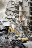 Parte di un edificio in condominio demolito Fotografie Stock Libere da Diritti
