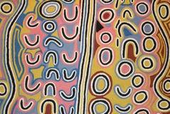 Parte di un materiale illustrativo aborigeno in museo, Utrecht, Paesi Bassi immagine stock