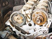Parte di un motore di automobile Fotografia Stock Libera da Diritti
