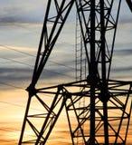 Parte di un pilone di elettricità immagini stock libere da diritti