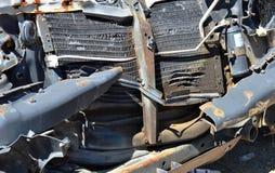 Parte di un veicolo fracassato arrugginito Fotografie Stock