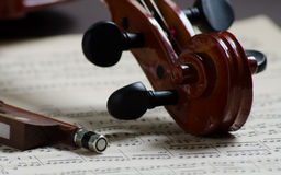 Parte di un violino Immagine Stock