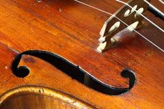 Parte di un violino antico Immagini Stock