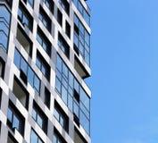 Parte di una costruzione a più piani moderna Architettura alta tecnologia moderna Fotografia Stock Libera da Diritti