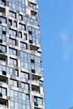 Parte di una costruzione a più piani moderna Architettura alta tecnologia moderna Immagine Stock Libera da Diritti