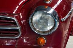 Parte di vecchia automobile rossa Fotografia Stock Libera da Diritti