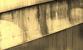 Parte di vecchia costruzione metallica, coperta di ruggine decorativa Fotografia Stock